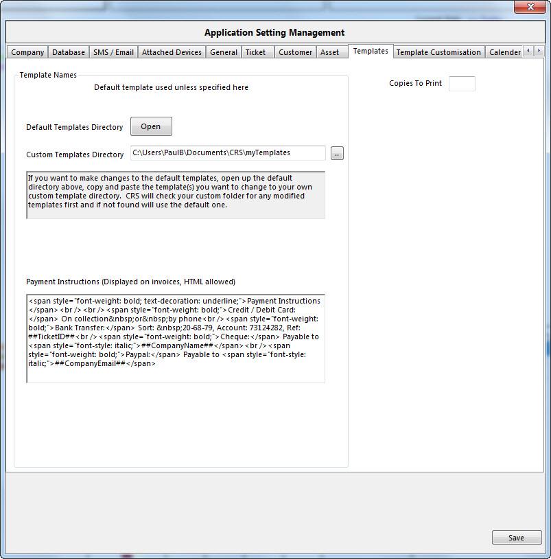 computer repair database template