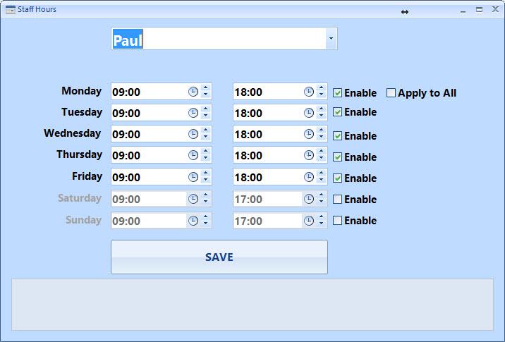 users timesheet